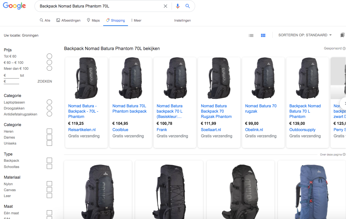 Backpack Nomad Batura Panthon 70 L